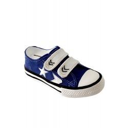 1T. Hucha zapatilla de tenis azul