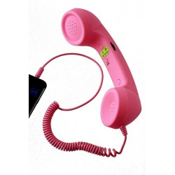1T. Auricular rosa para teléfono móvil y pc