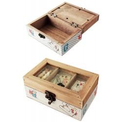 1T. Caja costura rústica madera