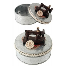 1T. Rustic metal sewing box