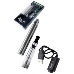 3T. Blister cigarrillo electrónico plata 1100 mAh+claromizador 1,6 ml+cargador Usb «AVANT PREMIUM»
