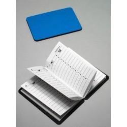 1T. Agenda magnética azul de bolsillo