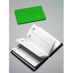 1T. Agenda magnética verde de bolsillo