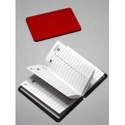 1T. Agenda magnética roja de bolsillo