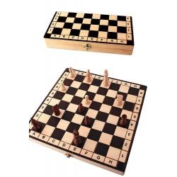 1T. Juego de ajedrez  de madera mediano «Números y letras»