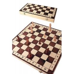 1T. Juego ajedrez de madera grande «Números y letras»