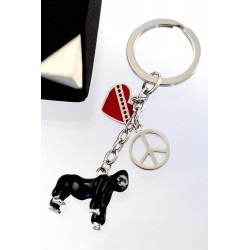5T. Metallic gorilla keychain with case