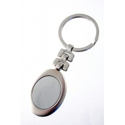 1T. Oval keyring metal with origin case