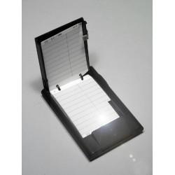 5T. Agenda plástico negra de bolsillo con luz
