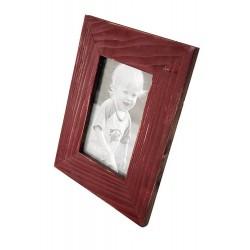 1T. Portafotos de madera marrón acabado rústico