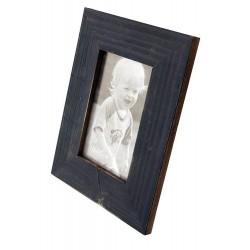 1T. Portafotos de madera azul acabado rústico