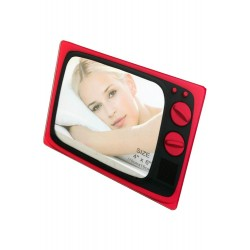 1T. Portafotos «Televisor» en color rosa