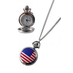 1T. Reloj de colgar «Bandera USA» con estuche origen