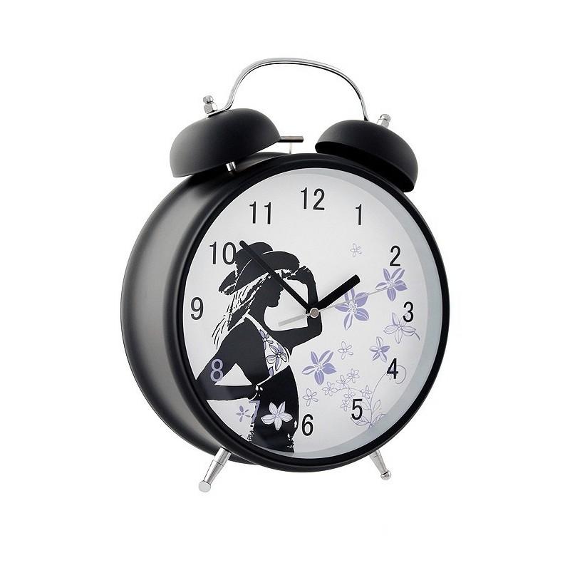 1t reloj despertador negro con mecanismo silencioso - Mecanismo reloj pared ...