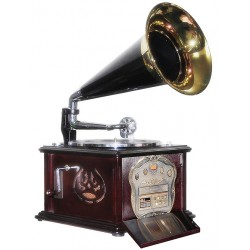 2T. Gramola «Retro» radio AM-FM/tocadiscos/lector Cd´s/USB/SD