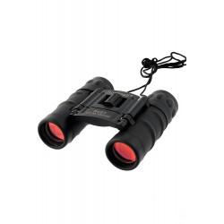 1T. Binocular negro antideslizante 8x21. Con lente ámbar. Distancia focal 131m/1000m