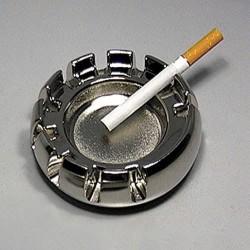 5T. Round metal ashtray