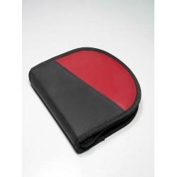 5T. Estuche porta Cd´s rojo para 12 uds.