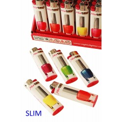 4T. Expositor con 50 encendedores «BIC» Slim «Varnish»