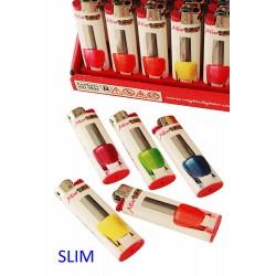4T. Expositor con 50 encendedores «BIC» Slim «Varnish»
