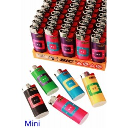 4T. Expositor con 50 encendedores «BIC» Mini «Music Player» surtidos