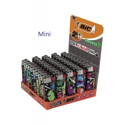 4T. Expositor con 50 encendedores «BIC» Mini «Monsters» surtidos