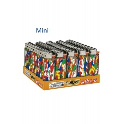 4T. Display with 50 lighters mini BIC «Dripping» assorted