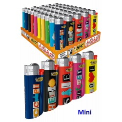 4T. Expositor con 50 encendedores «BIC» Mini «Word» surtidos