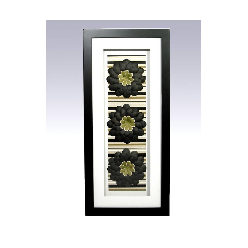 1t cuadro vertical blanco negro decorado con motivos for Cuadro jardin vertical