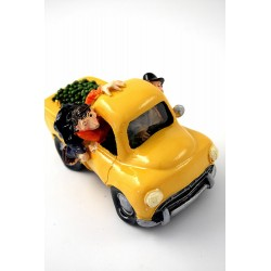 1T. Decorative moneybox «Fruit sellers car» in resin