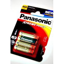 3T. Blister 4 Alkaline Batteries Lr03B Xtreme Panasonic Aaa