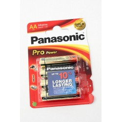 3T. Blister con 4 pilas alcalinas Lr6 ProPower «Panasonic» AA