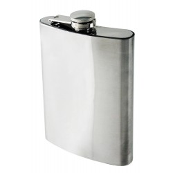 1T. 10 oz. Chromed metallic flask plain