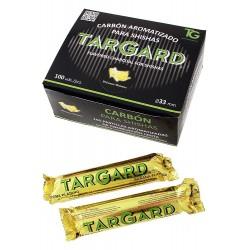 1T. Carbón aroma plátano  expositor 10 paq. 10 pastillas Ø33 mm