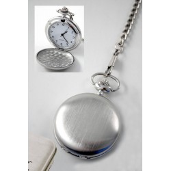 1T. Pocket watch in matte brushed. With  metal case