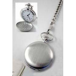 1T. Reloj de bolsillo en mate cepillado en estuche de  metal
