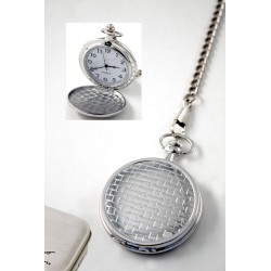 1T. Pocket watch. Rectangle mosaic. w/  metal case