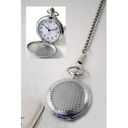 1T. Pocket Watch. Diamonds pattern shiny. With  metal case