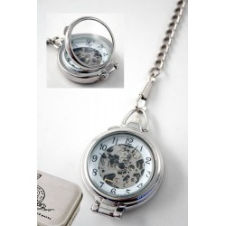1T. Lens cover pocket watch transparent. With  metal case