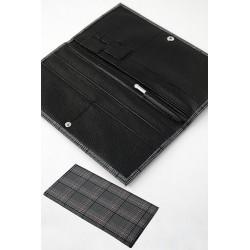 5T. Portadocumentos viaje en textil gris