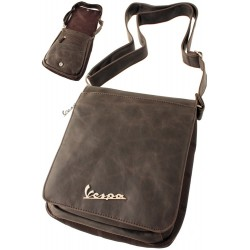 3T. Bag for tablet simil leather «Vespa» brown