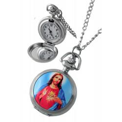 1T. Reloj de colgar de metal «Sagrado corazón»  Con caja metal 89905