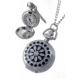 1T. Reloj de colgar de metal con decoración negra.  Con caja metal 89905