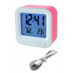 1T. Reloj despertador rosa