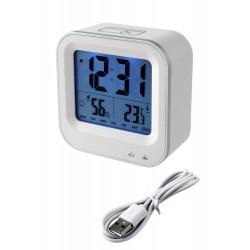 1T. Reloj despertador blanco