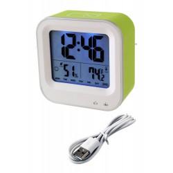 1T. Reloj despertador verde