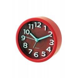 1T. Reloj despertador redondo rojo