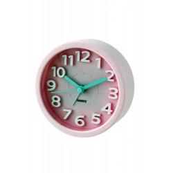 1T. Reloj despertador redondo  rosa