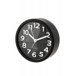 1T. Reloj despertador redondo negro