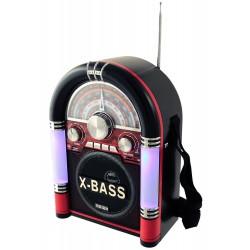 1T. Radio retro «JUKEBOX» multibanda MEIER M-U06 negra